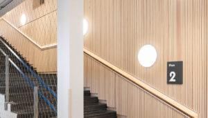 Inredo referensbild, ribbpaneler i trappa